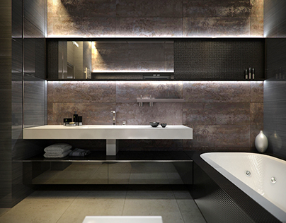Enot residence. Bathroom.