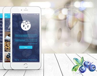 Blueberry Recipes App Mock #MadeWithAdobeXD