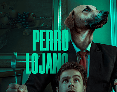 Perro lojano / arte Photoshop / conceptual / foto