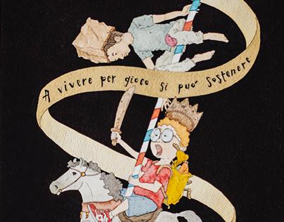 A LA GUERRE COMME A LA GUERRE - watercolor illustration