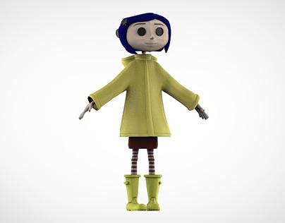 3D model - Coraline Jones