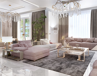 Living Room Spanish Colonial Style On Behance
