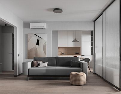 Дизайн-проект квартиры 58,81 м² по ул. Райт