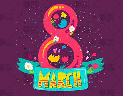 8 March Lettering