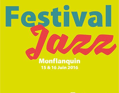 Projet Personnel - Proposition Affiche Festival de Jazz