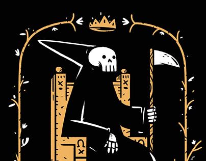 yo y la muerte - screenprint
