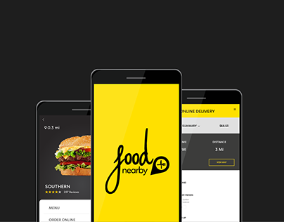Food finder Mobile Interface App