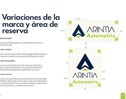 Manual de identidad visual Arintia Automotriz