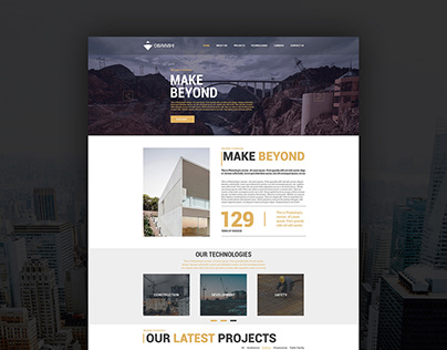 Website for construction company USA