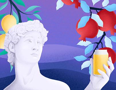 SO FRUIT. Fruit lemonade concept.