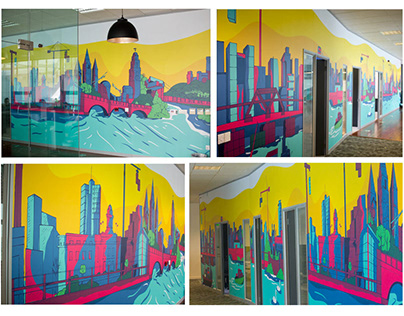 Wall mural Design - Teamwork.com office, Cork City