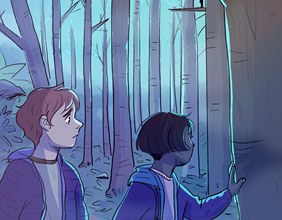 There is something following us in these woods