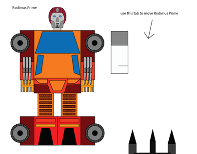 Paper Transformers: Rodimus Prime