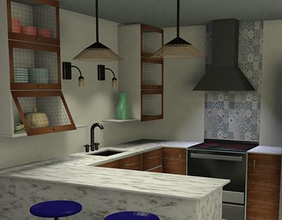 Modelado e iluminación de una cocina - 3DS max