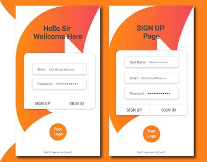 Color apps ׀ UI Design ׀ Sign up Page
