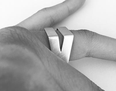 A minimal silver ring