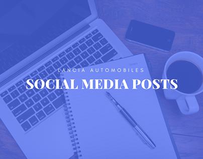 Lancia Social Media Posts
