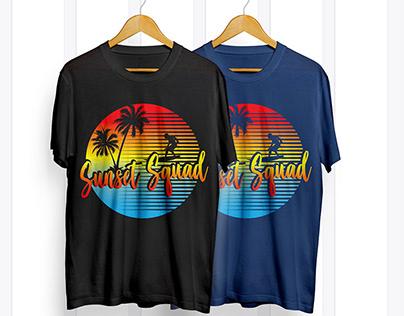 Sunset T shirt Design