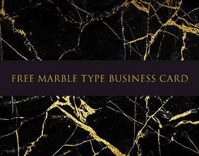 Free Marble Type Business Card