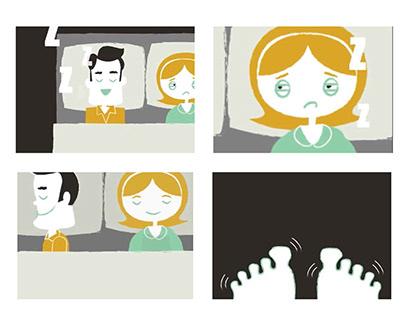 Peaceful vs Agitated Storyboard