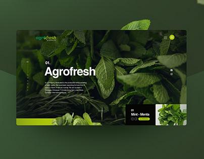 Website design - Agrofresh