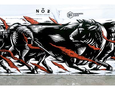BULLS mural