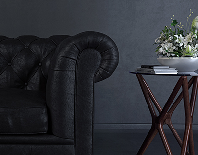 3D Chesterfield Sofa, Lighting Test