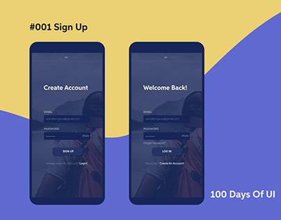 Sign Up Page, 001 #100DaysOfUI