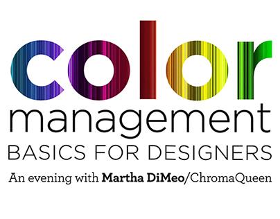 AIGA Talk: Color Management—A Primer for Designers