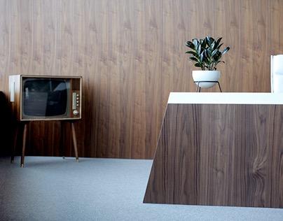 50's inspired office design