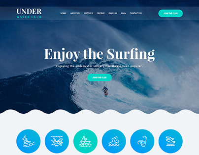 Beautiful crafted Underwater Blue Website template
