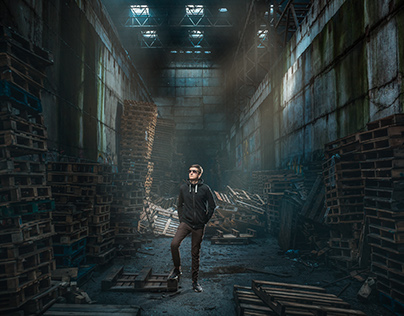 The guy in an abandoned factory