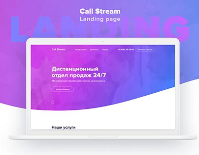 Website of remote sales team. Landing page