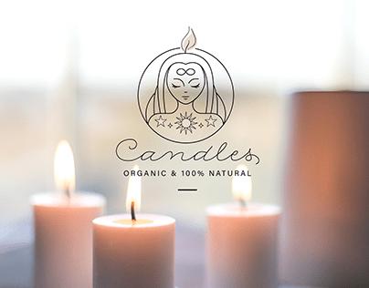 Logo Candles Разработка лого для производителя свечей
