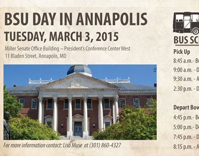 Bowie State University Day in Annapolis