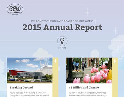 HBPW 2015 Annual Report