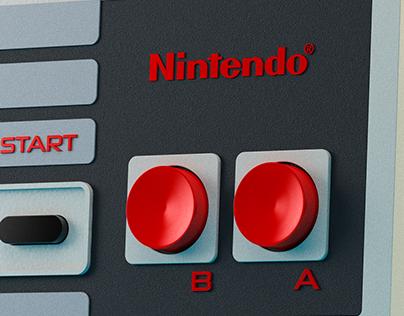 NINTENDO NES CONTROLLERS 3D