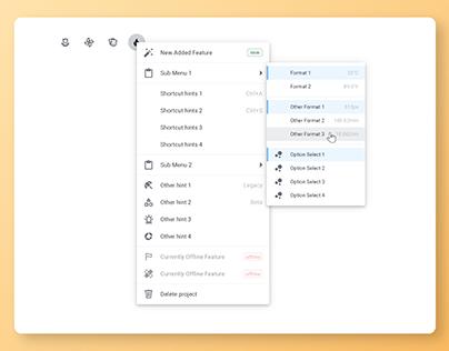 WORKetc - New Dropdown Menu + In-menu Feedback