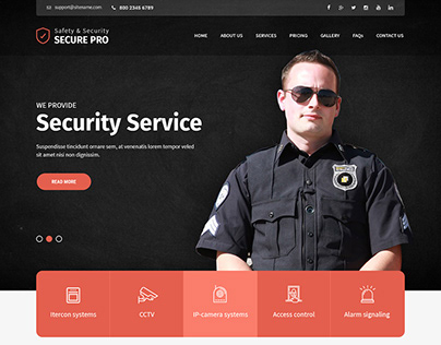 Security Services Website Template