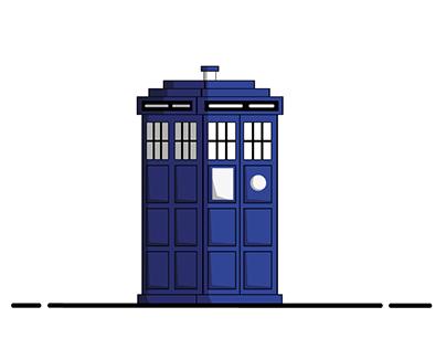 The TARDIS through the universe