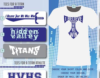 Titan Tees and Brochure