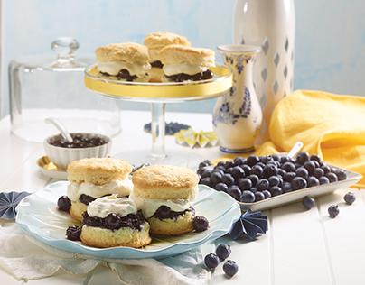 Blueberry Shortcake Sliders