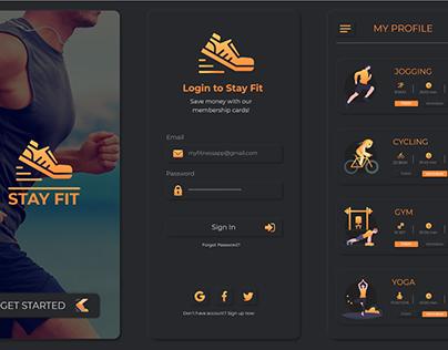 Neumorphism Fitness App