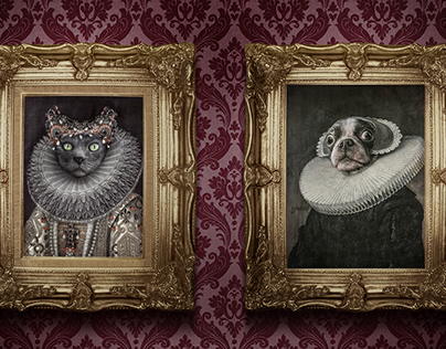 Portrait Your Pet, a gallery of pets in their finery.
