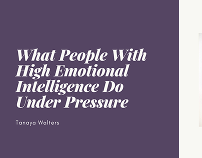 High Emotional Intelligence Under Pressure