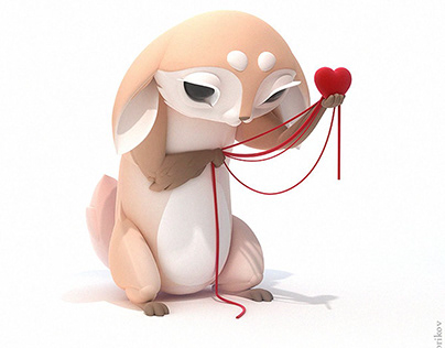 3d Model Character Love Valentine