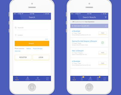 Shine jobs iOS app
