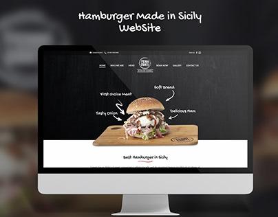 Hamburger Food Restaurant WebSite Design UX UI