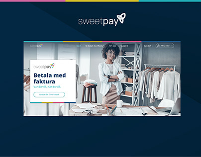SweetPay Website design