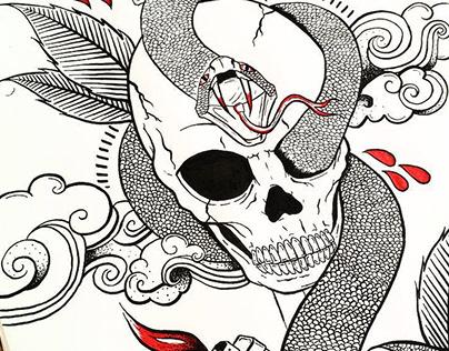 Skull & Snake | Illustration